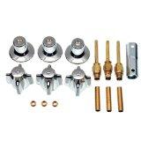 Danco 39616 3-Handle Tub/Shower Trim Kit for Central Brass, Chrome