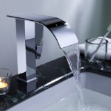 Lightinthebox Sprinkle® Contemporary Widespread Waterfall Bathroom Sink Faucet Chrome Finish Long Spout Bathtub Mixer Taps Bath Tub Faucets