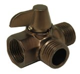 Shower Flow Diverter, Shower Flow Control, Oil Rubbed Bronze Finish - By Plumb USA