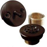 EXCLUSIVE ALL BRASS Bathtub Drain Tub Conversion Kit - Oil Rubbed Bronze Trip Lever