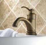 European Style Single Handle Centerset Bathroom Mixer Faucet for Vanity Sink, Antique Brass Ys6602