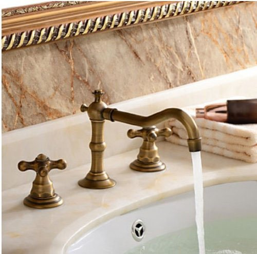 Http Www Bathroomfaucetstore Com Rozinsanitary Classical Widespread Bathroom Sink Faucet Antique Brass Dual Handle Mixer Tap