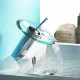 Lightinthebox Single Handle Centerset Waterfall Bathroom Sink Faucet, Chrome