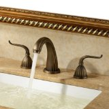VINES (TM) Contemporary Bathroom Sink Faucet Luxury Classic Antique Inspired Solid Brass Deck Mount Two Handles Bathroom Sink Faucet Bath Tub Mixer Taps