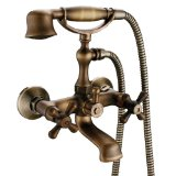 LightInTheBox Wall-mount Two Handles Tub Faucet, Antique Brass Finish
