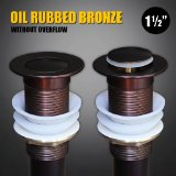 Oil Rubbed Bronze Bathroom Faucet Vessel Sink Pop Up Drain Stopper without Overflow 1 1/2