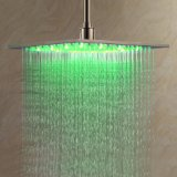 LightInTheBox 12 inch Stainless Steel Shower Head with Color Changing LED Light