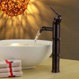 Lightinthebox® One Single Handle Deck Mount Centerset Bath Mixer Taps Bathroom Sink Faucet Oil Rubbed Lavatory Bamboo Basin Faucets Bronze Plumbing Fixtures