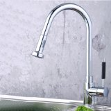 VINES (TM) Contemporary Kitchen Sink Faucet Single Handle Centerset Pull Out with Versatile and Swivel Sprayhead Chrome