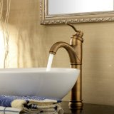 Lightinthebox? Deck Mount One Handle Tall Spout Antique Inspired Solid Brass Bathroom Sink Faucet