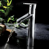 LightInTheBox Chrome Finish Contemporary Solid Brass Single Handle Waterfall Bathroom Sink Faucet(Tall)