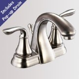 Brushed Nickel Bathroom Sink Lavatory Faucet - Includes Pop-up