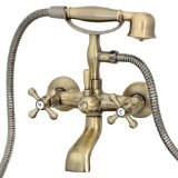 FREUER Vasca Collection: Classic Clawfoot Tub Faucet, Antique Brass