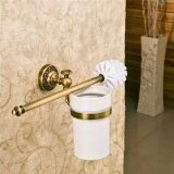 Ouku® Wall Mount Bathroom Bath Shower Antique Inspired Style Wall Mount Bathroom Bath Showered Toilet Brush Holder and Stands Lavatory Accessories Tools and Improvement