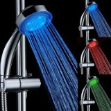 7 Colors Magic Temperature Controlled LED Light Top Spray Shower Head Bathroom Showerheads