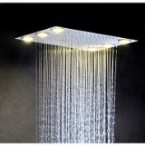 Stainless Steel 304 Alternating Current Bathroom Rainfall Shower Head With 6 PCS LED Lamps