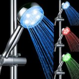 7 Colors Water-temperature Control LED Light Top Spray Shower Head Bathroom Showerheads