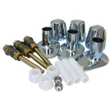 LASCO 01-9465 Price Pfister Verve Series Screw Driver Stop 3 Valve Tub and Shower  Trim Kit Metal Handles, Stems Flanges and Nipples, Chrome
