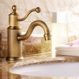 Ouku® Deck Mount Contemporary Antique Inspired Bathroom Sink Faucet - Antique Inspired Solid Brass Finish Single Hole Lavatory Plumbing Fixtures Roman Tub Faucets Ceramic Valve Included Unique Designer Cheap Glacier Bay Mixer Taps