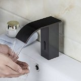 Waterfall Oil Rubbed Bronze Touch Free Automatic Sensor Tap Sink Hot Cold Mixer Faucet Y0232