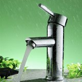 Greenspring Centerset Single Handle Bathroom Sink Vessel Faucet Stainless Steel Basin Mixer Taps,Chrome Finish