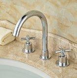 Rozin® Double Cross Handles Basin Faucet 3pcs Widespread Sink Mixer Tap Chrome