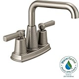 Allentown 4 in. Centerset 2-Handle Bathroom Faucet in SpotShield Brushed Nickel