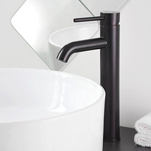 12″ Contemporary Bathroom Faucet One Hole Vessel Sink Vanity Oil Rubbed Bronze