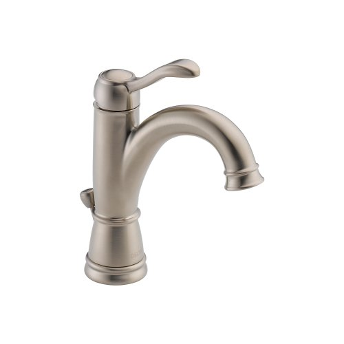 Delta 15984LF-BN Porter Single Handle Centerset Bathroom Faucet, Brushed Nickel