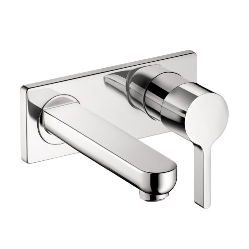 Hansgrohe 31163001 Metris S Wall-Mounted Single Handle Faucet Trim, Chrome