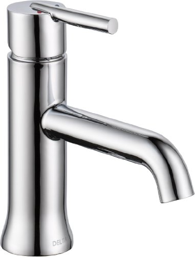Delta Faucet 559LF-MPU Trinsic, Single Hole-Single Handle-4-Inch plate/metal pop-up, Chrome